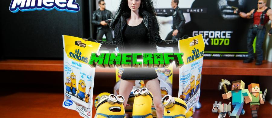 Gru 3 Mineez, Minyonok kihívás kártyajáték, valamint Minecraft láda sorozat zsákbamacskák